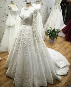 Country Wedding Dresses With Train .Country Wedding Dresses With Train Hijabi Wedding, Muslimah Wedding Dress, Muslim Wedding Dresses, Country Wedding Dresses, Princess Wedding Dresses, Dream Wedding Dresses, Bridal Dresses, Dress Muslimah, Muslim Brides