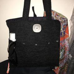 Backpack purse converts to messenger blue tote bag crossbody Cross Shoulder Bags, Shoulder Handbags, Black Handbags, Tote Handbags, Tote Bags, Backpack Purse, Crossbody Bag, Ipad, Old Shirts