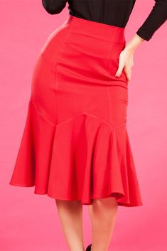 Raina-Rose skirt, on Miss Candyfloss.this is hot 1940s Fashion, Red Fashion, Fashion Dresses, Vintage Fashion, Red Skirts, Cute Skirts, Blouse And Skirt, Dress Skirt, Types Of Fashion Styles