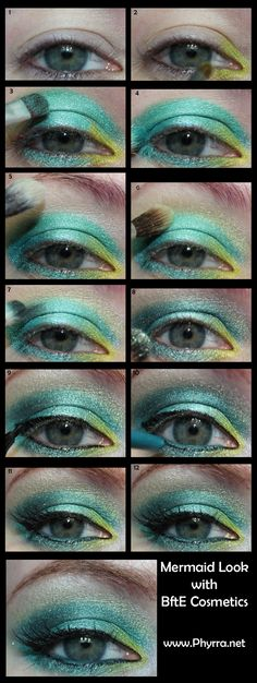 Mermaid Inspired Tutorial with BftE. click thru to see how! - Tropical Vacation Contest Ends 3/22/13