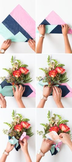 DIY Fabric Wrapped Bouquets for Gifting