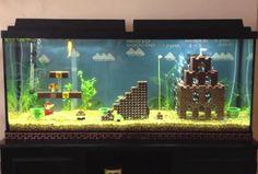 Aquarium With LEGO Super Mario Level