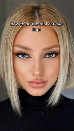 Edgy Makeup, Makeup Eye Looks, Eyeliner Looks, Eye Makeup Art, Face Makeup Tips, Cute Makeup, Eyeshadow Looks, Pretty Makeup, Beauty Makeup