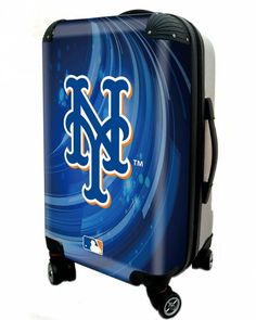 """New York Mets, 21"""" Clear Poly Carry-On Luggage by Kaybull"""