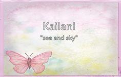 Kailani - What does the girl name Kailani mean? (Name Image)