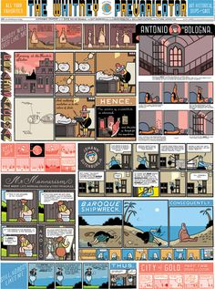 The fantastic art and typography of Chris Ware Comic Book Artists, Comic Artist, Comic Books Art, French Illustration, Graphic Design Illustration, Chris Ware, Alternative Comics, Ligne Claire, Comic Styles