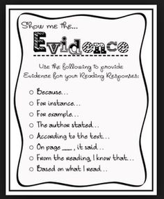 The Common Core State Standards are requiring students give evidence and explain their answers - spoken and written.  Here is a good article to give perspective on the benefits of this process.  St...