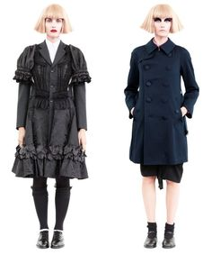 Victorian dress, and the button down jacket is a classic piece.