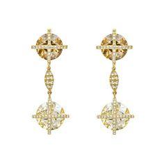 Betteridge Multicolored Diamond Pendant Earrings