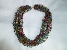 Hand Crocheted necklaces comes in lots of colors