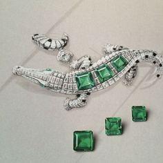 Tendance Bracelets  Cartier. Crocodile bracelet sketch