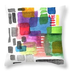 Throw Pillows - Out Of The Box Throw Pillow by Linda Woods
