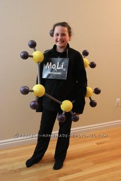 Molly-ecule Costume for Science-Loving 6th Grader… Coolest Halloween Costume Contest