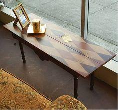 Brett Bigham Design: Recycled Wood, Reused Legs...Autumn Harlequin Table