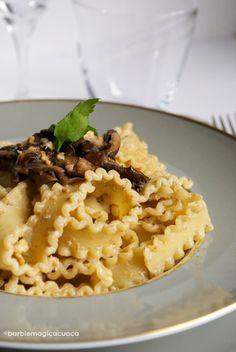 Barbie Magica Cuoca - blog di cucina: Mafaldine con pesto di funghi porcini, noci e ricotta