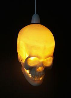 FARMHOUSE: Dave's Skull Lamp.