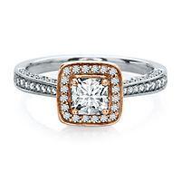 Helzberg Diamond Masterpiece® 1 ct. tw. Diamond Engagement Ring in 18K Gold