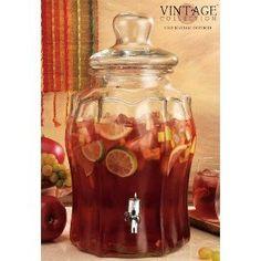 Home Essentials 2645 Vintage Scalop Panel Jug Beverage Dispenser by Home Essentials and Beyond