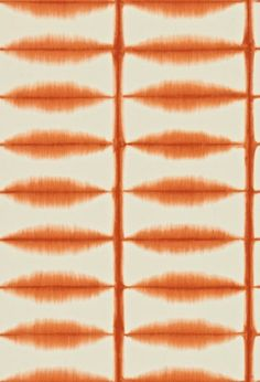 Shibori (110440) - Scion Wallpapers - A rectangular grid created using an ancient Japanese dye-resist technique. Shown here in chilli/orange - more colours are available. Please request a sample for true colour match. Paste-the-wall product.