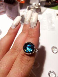 Cabochon Ring - 10 lei Romania, Handmade Jewelry, Turquoise, Rings, Handmade Jewellery, Green Turquoise, Ring, Jewellery Making, Jewelry Rings