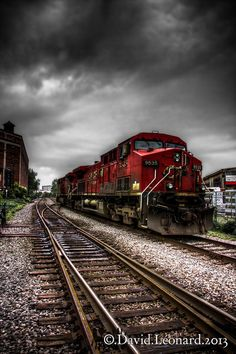Runaway Train by David Leonard Diesel Locomotive, Steam Locomotive, Train Tracks, Train Rides, Runaway Train, Bonde, Train Art, Old Trains, Train Pictures