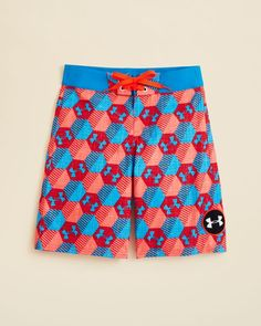 Under Armour Boys' Barrel Printed Board Shorts - Sizes 24-30