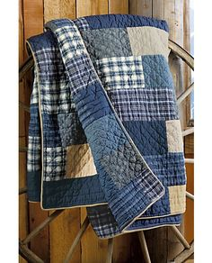 patch front and back. absolutely love it! -Weathered Blues Quilt