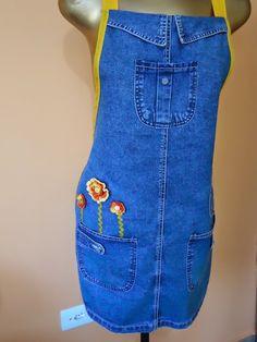 Angela Maria Artesanto: Avental jeans