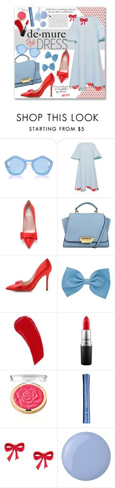 """Demure Style"" by clovers-mind on Polyvore featuring Vika Gazinskaya, Kate Spade, By Terry, MAC Cosmetics, Kershaw, HydroPeptide, Essie, holidaystyle and oversizeddress"