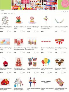 Tons of Circus / Carnival themed party supplies at great prices! Kara's Party Ideas Shop karaspartyideas.com/shop