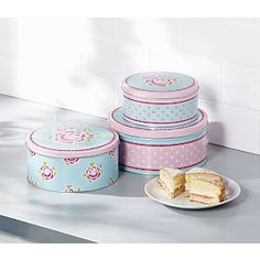 ASDA Floral Nesting Cake Tins Rose Cottage, Cake Tins, Asda, Cookie Jars, Shabby Chic Decor, Beautiful Cakes, Food Storage, Decorative Boxes, Tableware