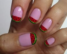 Pixie Polish WATERMELON #nail #nails #nailart