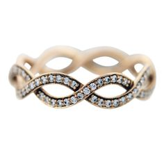 Tiffany and Co. rose gold infinity ring