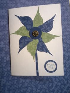 I made cards all weekend got the ideas from Pinterest this is made from Stampin up bird punch.