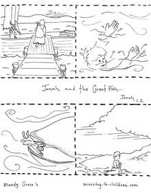 1000 images about bible jonah the whale on pinterest for Jonah and the whale coloring pages for preschoolers