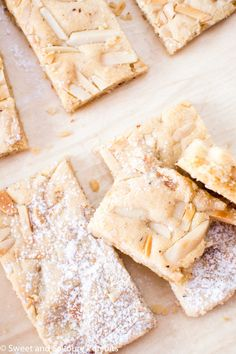 If you love almonds and enjoy the taste of almond flavoured baked goods then you'll love these easy to make delicious Chewy Almond Marzipan Bars!