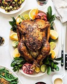 Chipotle Citrus Compound Butter Roast Turkey Whole Turkey Recipes, Roast Turkey Recipes, Thanksgiving Drinks, Thanksgiving Turkey, Turkey Farm, Smoked Turkey, Roasted Turkey, Mexican Food Recipes, Dinner Recipes