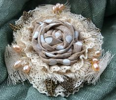 Brooch Straw hat by squerrelbench on Etsy