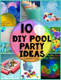 It's summer and that means it's time for a pool party! We've got you covered with fun ideas- http://craftteen.com/2015/06/03/10-diy-ideas-for-a-pool-party/?utm_content=buffer940d4&utm_medium=social&utm_source=pinterest.com&utm_campaign=buffer