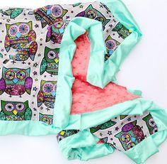 Paisley Owl Baby Blanket  Instagram: @loveandlullabies