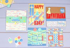 Here's 5 super-speedy cards to make - suitable for every family member's birthday! #Birthday #Papercraft #CardMaking