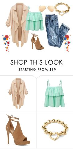 """""""Untitled #13"""" by arnes-zabic ❤ liked on Polyvore featuring LE3NO, J.Crew, ALDO, Tiffany & Co. and Ray-Ban"""