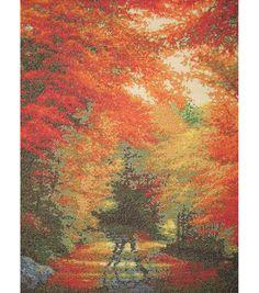 M.C.G. Textiles-Candamar Design Autumn In New England Ctd X-Stitch Kit