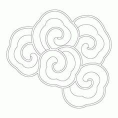 구름·용문 81870 Buddha Drawing, Celtic Quilt, Japanese Art Styles, Asian Artwork, Cloud Drawing, Chinese Element, Korean Painting, Irezumi Tattoos, Oriental Pattern