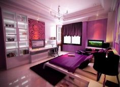 teen girls bedroom purple young-adult-inspirations-interests-likes