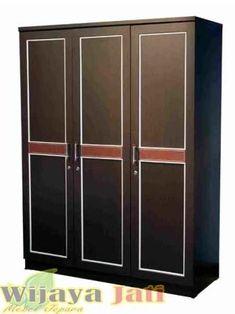 Lemari Pakaian Minimalis | Lemari Pakaian Minimalis 3 Pintu | Wijaya Jati Mebel