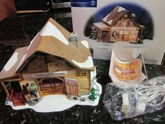 Dept 56 Snow Village Timberlake Outfitters Cabin Intro 2000 Retired 2002 5655054