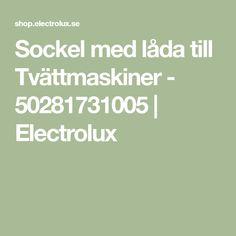 Sockel med låda till Tvättmaskiner - 50281731005 | Electrolux