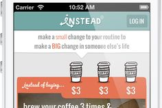 Instead: an app that helps non-billionaires change the world