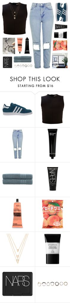 """""""everyone's watching you"""" by vellichor ❤ liked on Polyvore featuring adidas Originals, Alexander Wang, Topshop, Bobbi Brown Cosmetics, Linum Home Textiles, NARS Cosmetics, Aesop, BERRICLE, Smashbox and Iosselliani"""